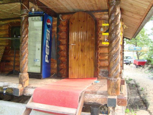 Русская баня в селе Ясногородка фото входа